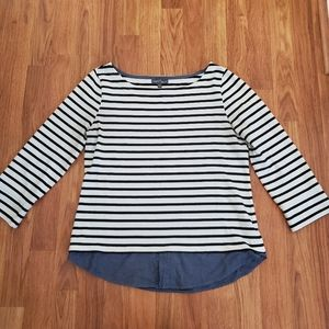 Market & Spruce layered 3/4 sleeve top, sz Small